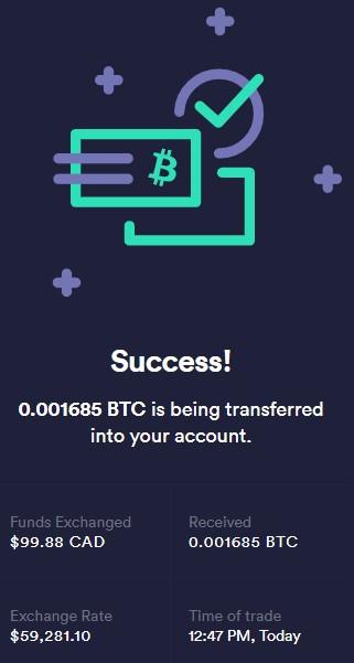 Bitcoin purchase
